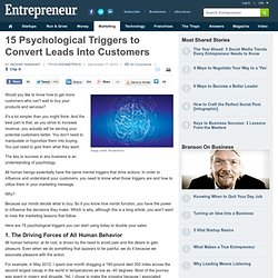 15 Psychological Triggers to Convert Leads Into Customers
