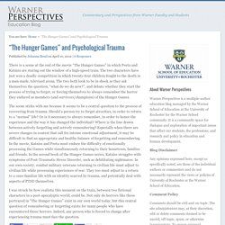 """The Hunger Games"" and Psychological Trauma"