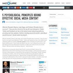 5 Psychological Principles Behind Effective Social Media Content
