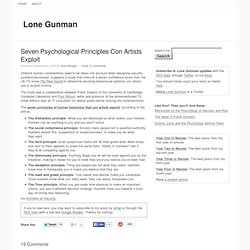 Seven Psychological Principles Con Artists Exploit