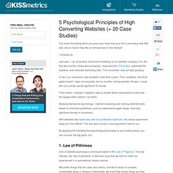 5 Psychological Principles of High Converting Websites
