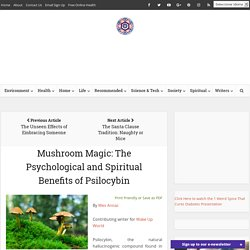 Mushroom Magic: The Psychological and Spiritual Benefits of Psilocybin