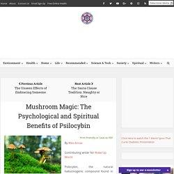 Mushroom Magic: The Psychological and Spiritual Benefits of Psilocybin
