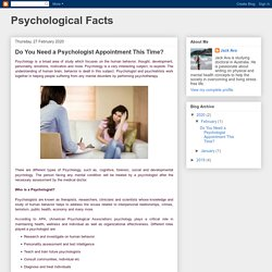 Do You Need a Psychologist Appointment This Time?