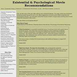Existential & Psychological Movie Recommendations