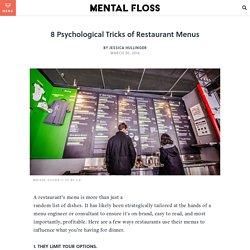 8 Psychological Tricks of Restaurant Menus