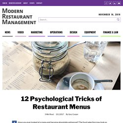 12 Psychological Tricks of Restaurant Menus