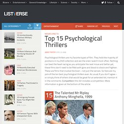 Top 15 Psychological Thrillers
