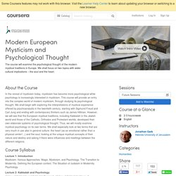 Modern European Mysticism and Psychological Thought