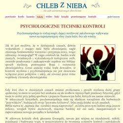 ChzN - PSYCHOLOGICZNE TECHNIKI KONTROLI
