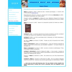 DEEP Clisson - Livres et articles psychologie enfants et adolescents