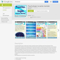 Psychologie: la sante mentale