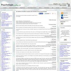 30 citations insolites à propos des hommes et de la psychologie