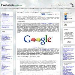 Biais cognitifs insolites : L'effet Google et la mémoire homme-machine