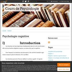 Psychologie cognitive - Cours de Psychologie