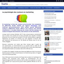 La psychologie des couleurs en marketing