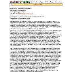 Psychologie et connaissance de soi