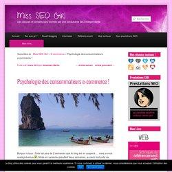 Psychologie des consommateurs e-commerce - Miss Seo Girl