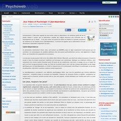 Jeux Videos et Psychologie 3 Cyberdépendance