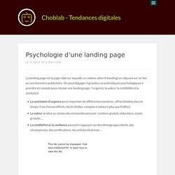Psychologie d'une landing page