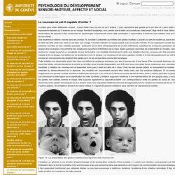 Le nouveau-né est-il capable d'imiter ? - Psychologie du Développement Sensori-Moteur, Affectif et Social