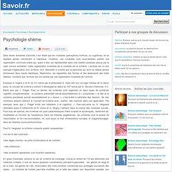 Psychologie schème