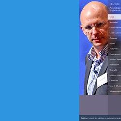 L'attention et le contrôle exécutif - Psychologie cognitive expérimentale - Stanislas Dehaene - Collège de France - 13 janvier 2015 09:30