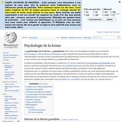Psychologie de la forme