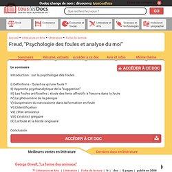 Freud : Psychologie des foules et analyse du moi (résumé)