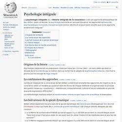 Psychologie intégrale