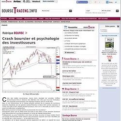 Crash boursier et psychologie des investisseurs