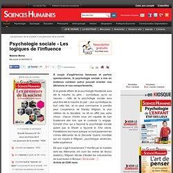 Psychologie sociale - Les logiques de l'influence