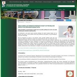 Faculté de Psychologie, Logopédie et Sciences de l'Education (FPLSE) - Formation par Line Massé
