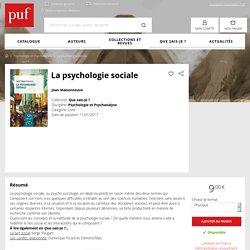 La psychologie sociale - Jean Maisonneuve