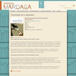 Éditions Mardaga - Psychologie de la négociation