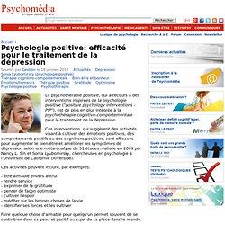 Psychologie positive: efficacité pour le traitement de la dépression
