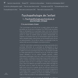 Cours de Psychologie - Psychopathologie de l'enfant