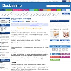 Encyclopédie médicale: Maladies psychosomatiques