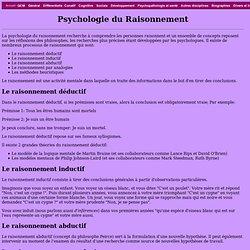 Psychologie du Raisonnement et processus d'inférences