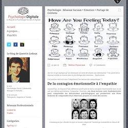 Psychologie & Réseaux Sociaux : Emotion et Partage de Contenu