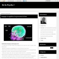 Langage et cognition: les processus de base