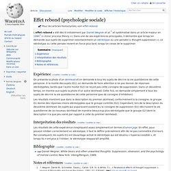 Effet rebond (psychologie sociale)