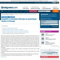 Compléter sa formation théorique en psychologie: étudier à l'étranger