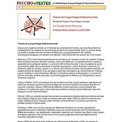 Théorie de la psychologie tridimensionnelle