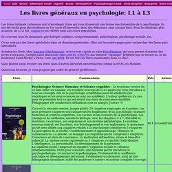 Livres généraux de psychologie pour étudiants à l'Université