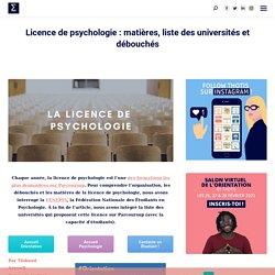 Licence de psychologie : matières, liste des universités et débouchés
