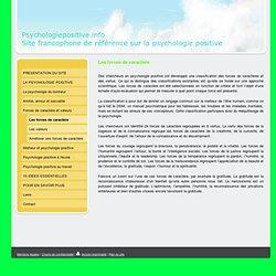 Les forces de caractère - psychologiepositive.info, site francophone de référence sur la psychologie positive