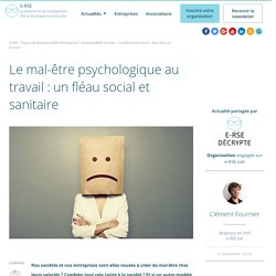 12c2016 Le mal-être psychologique au travail et ses conséquences pour l'entreprise