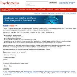 Test psychologique: Échelle de difficultés de régulation des émotions