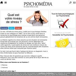 Test psychologique: Échelle de stress perçu